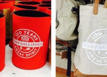 Anzac stubbie holder and bag