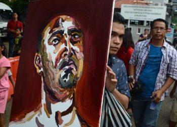 Bali 9 Myuran Sukumaran self portrait