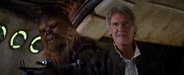 Han and Chewie - Star Wars The Force Awakens new trailer