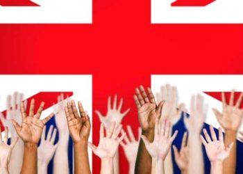 UK Britain election hands