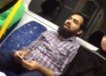 australia muslim train abuse video