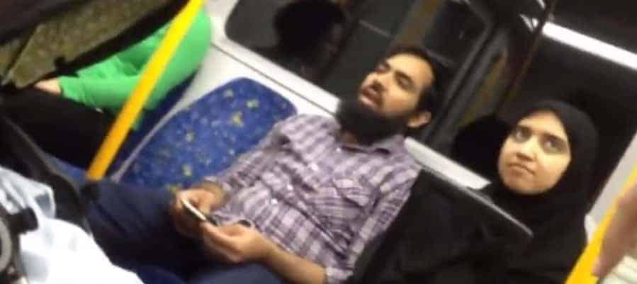 australia muslim train abuse video