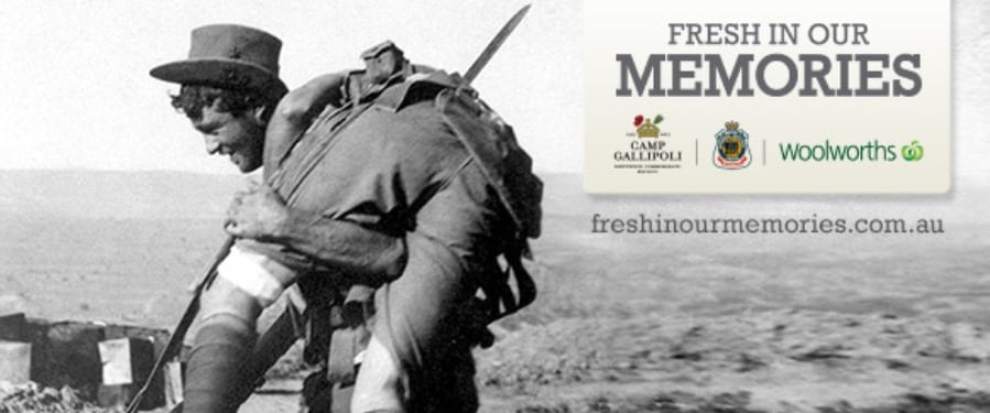 woolworths anzac - fresh in our memories 2