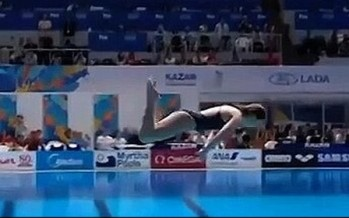 Australian competitive diver scores 0 at World Champs