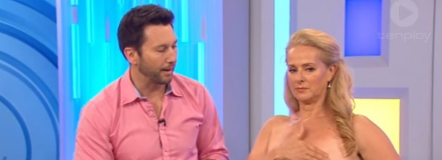 Aussie morning TV's goes live with bare breast self-examination