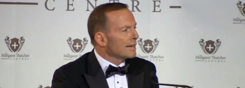 Tony Abbott's London speech on refugee crisis: full transcript and video