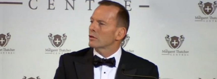 Follow my hard-line on refugees to save Europe, Tony Abbott tells London