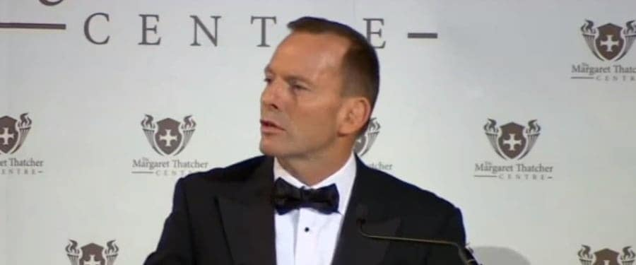 Tony Abbott speech London - refugees