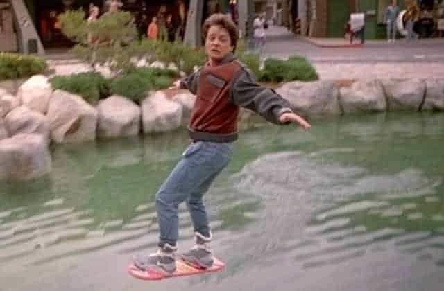 Marty McFly on his hoverboard. No such ban in his timeline.