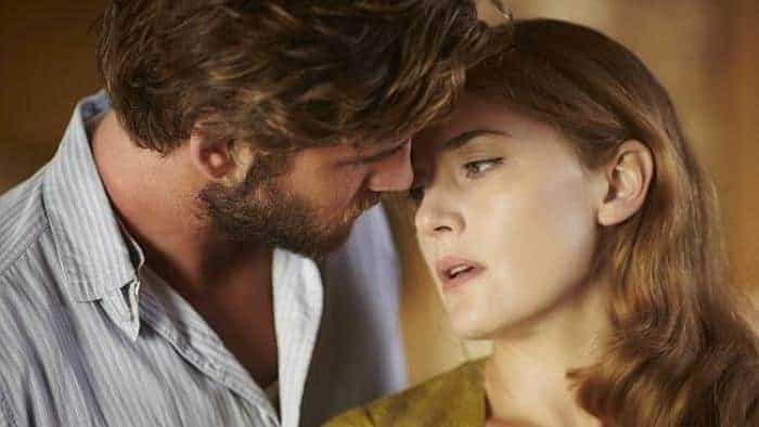 Liam Hemsworth and Kate Winslet in 'The Dressmaker'