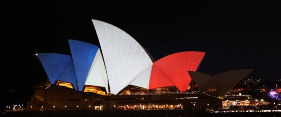 sydney opera house paris terror attacks
