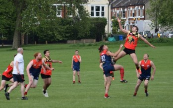 Demons secure top spot over AFL London reigning premiers
