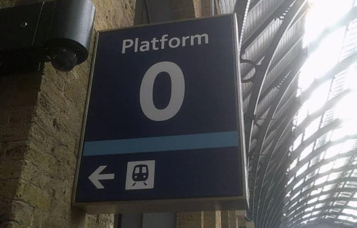 King's Cross Platform 0... it's a real thing.