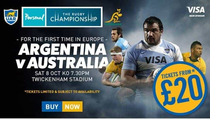Get Australia vs Argentina at Twickenham tickets
