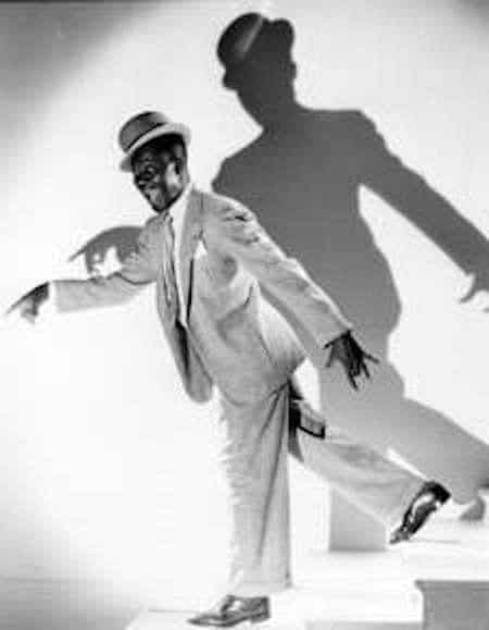 Bill 'Bojangles' Robinson lets one loose at the GABBA. Source: Black-face.com