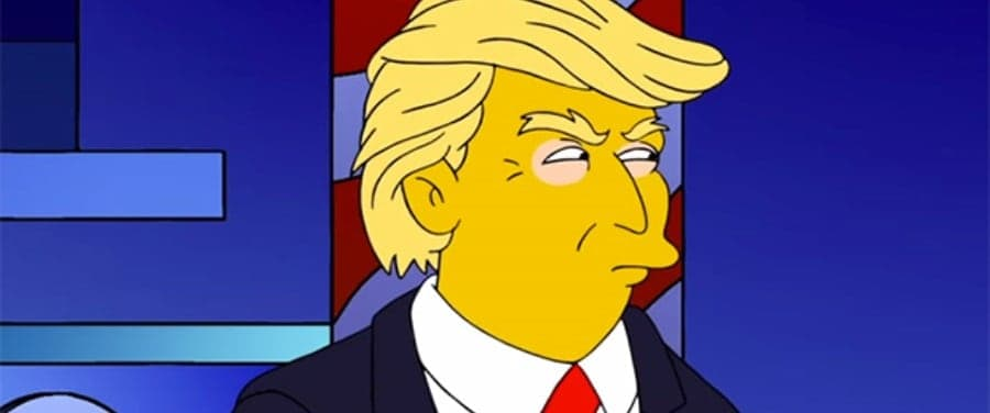 Donald Trump depicted in a more recent episode of The Simpsons.