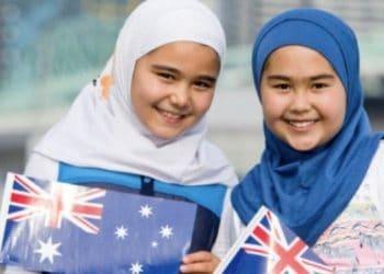 hijab australia day girls