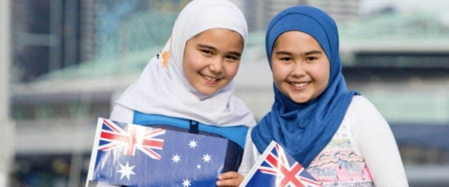 hijab australia day girls