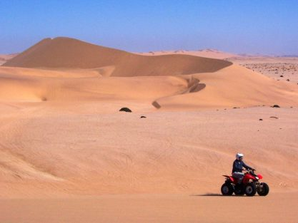 Namib quad driving