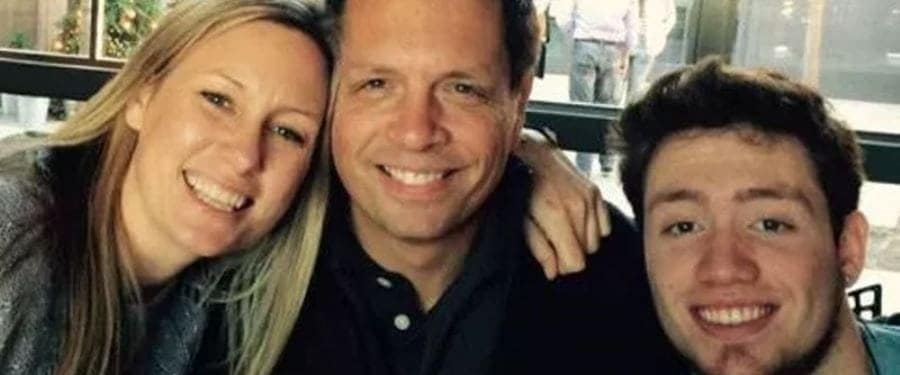 Justine Damond with fiance Don and soon-to-be stepson Zac. (Facebook)