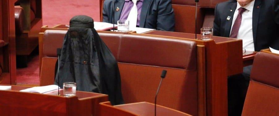 pauline hanson burqa senate