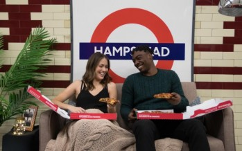Deeper pizza, deep in the London Underground