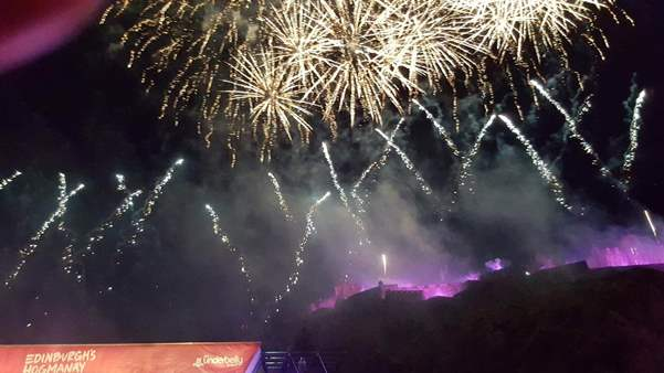 Edinburgh Hogmanay New Year Fireworks