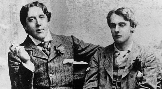 Oscar Wilde with `Bosie` Lord Douglas.