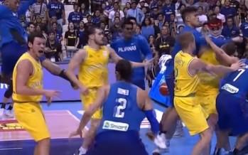 Basketball punch-up mayhem: Australia and Philippines in sickening on-court brawl [FULL VIDEO]