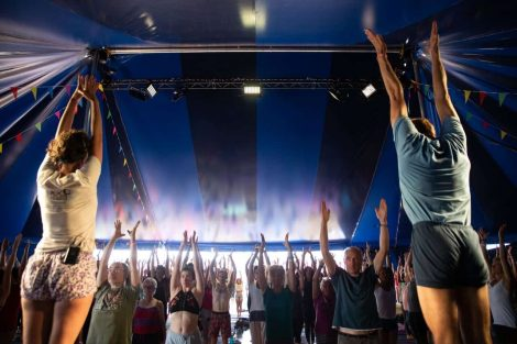 Womad yoga tent