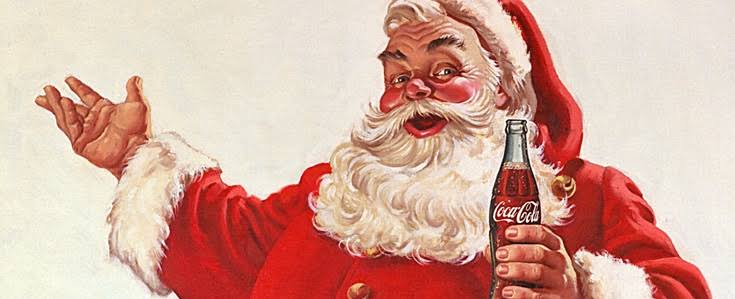 Coca-cola Christmas advert featuring Santa Claus.