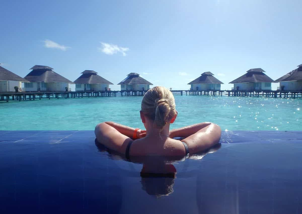 The Maldives make the list. (Image by Bettina Nørgaard from Pixabay).