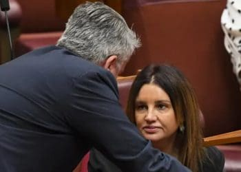"Following conflicting accounts on whether there was a deal, Richard di Natale said Cormann had 'walked over to senator Lambie and said, ""Is it OK if I say there's no deal?"" We heard you say it'. Lukas Coch/AAP/The Conversation"