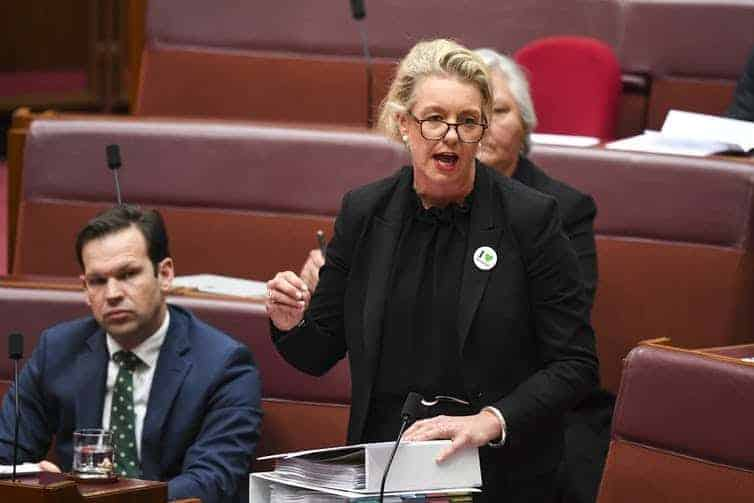 Bridget McKenzie was a member of a shooting club that received $36,000 in grant money.         (Lukas Coch/AAP)