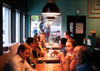 COVID Restaurant People Eating Socializing Socialize