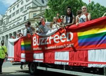 Buzzfeed closing editorial in Australia and the UK - image from UK Pride