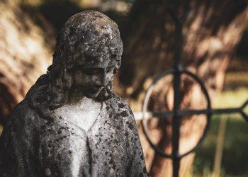 Grave Sculpture Stone Figure Death Mourning