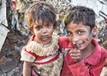 Slums Poor Brother Sister Outdoor
