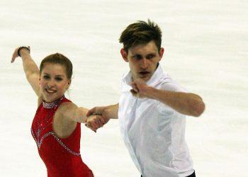 Ekaterina Alexandrovskaya and Harley Windsor , skating.