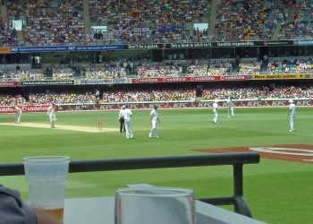 An Ashes test in Brisbane. Photo credit: Wikimedia Commons