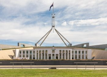Parliament House in Canberra. Photo credit: Wikimedia Commons