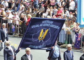 SASR veterans on parade in Brisbane. Photo credit:  David Jackmanson via Wikimedia Commons