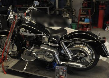 A Harley Davidson motorcycle was one of the assets confiscated. Photo credit: Australian Federal Police