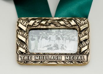 The Mullagh medal. Photo credit: Cricket Victoria