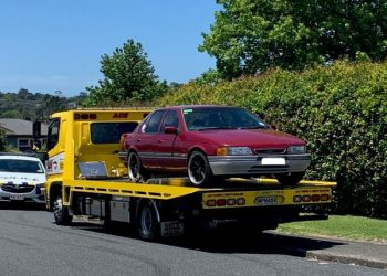 One of the vehicles being impounded. Photo credit: NZ Police