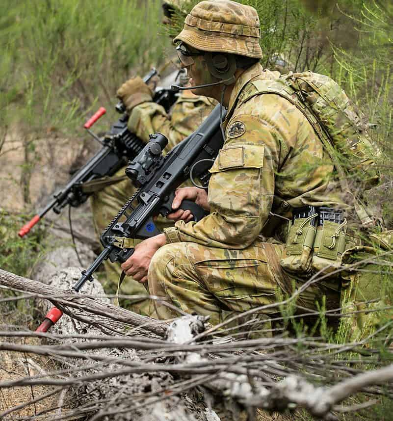 Australian soldiers during an exercise. Photo credit: ADF