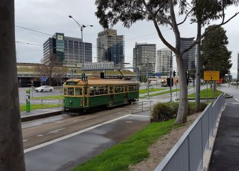 A tram in Melbourne, which is now under a five-day lockdown along with the rest of Victoria. Image by Ralf Genge from Pixabay