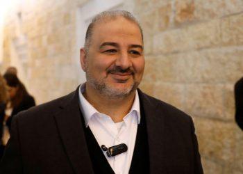 Emerging powerbroker: Mansour Abbas, the leader of the Ra'am Islamist Party in Israel. REUTERS/Ronen Zvulun