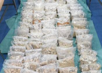Part of the 850kg of crystalline MDMA seized during the international police operation. Photo credit: Australian Federal Police