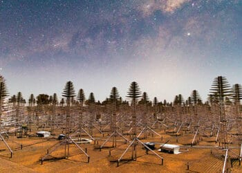 More than 131,00 Square Kilometre Array antennas will spread across the Murchison region of WA. Image credit: Michael Goh and ICRAR/Curtin